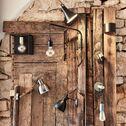 Applique murale en bois et métal L37.5cm-ALBA