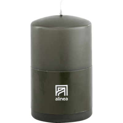 Bougie cylindrique vert cèdre-HALBA