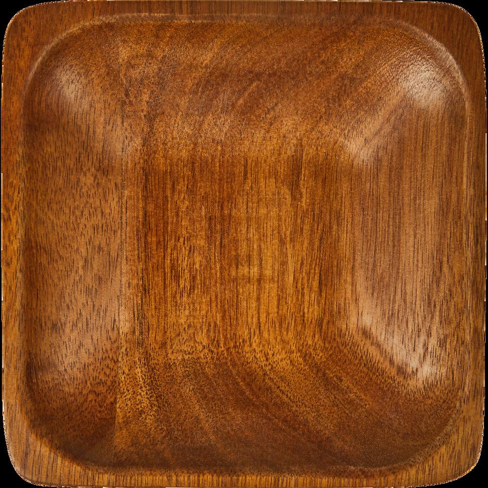 Coupelle carrée en acacia 14 x 14cm-ESTEVE