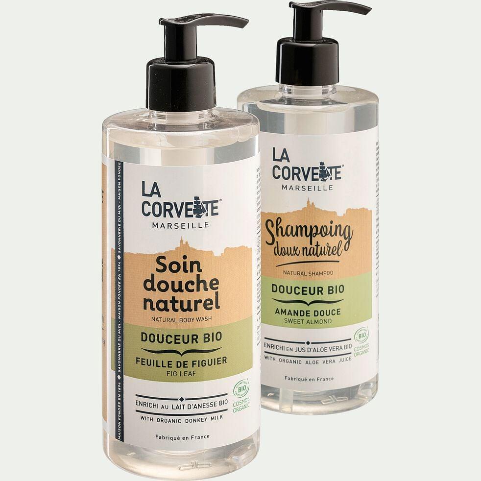 Shampoing doux bio à l'amande douce 500ml-LEO