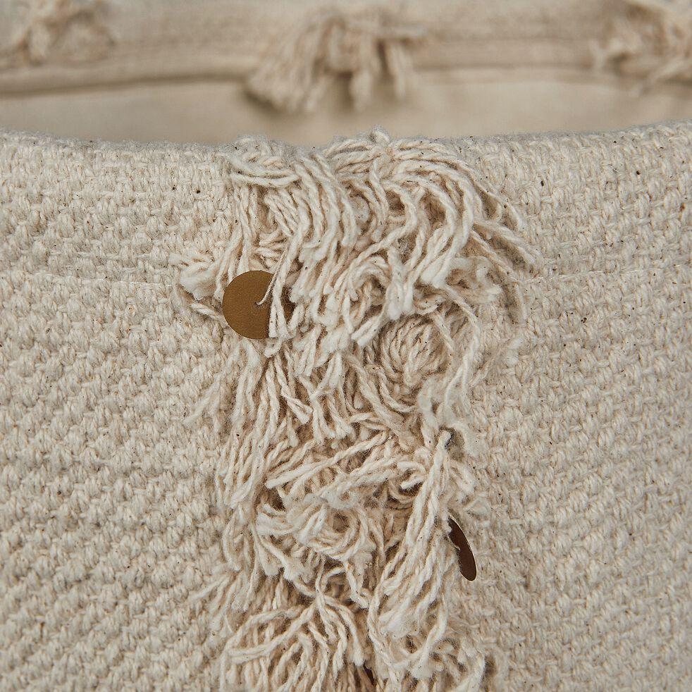 Panier en coton - beige H30xD30cm-MARA
