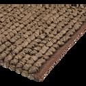 Tapis de bain en coton 80 x 50 cm - Brun châtaignier-JAN