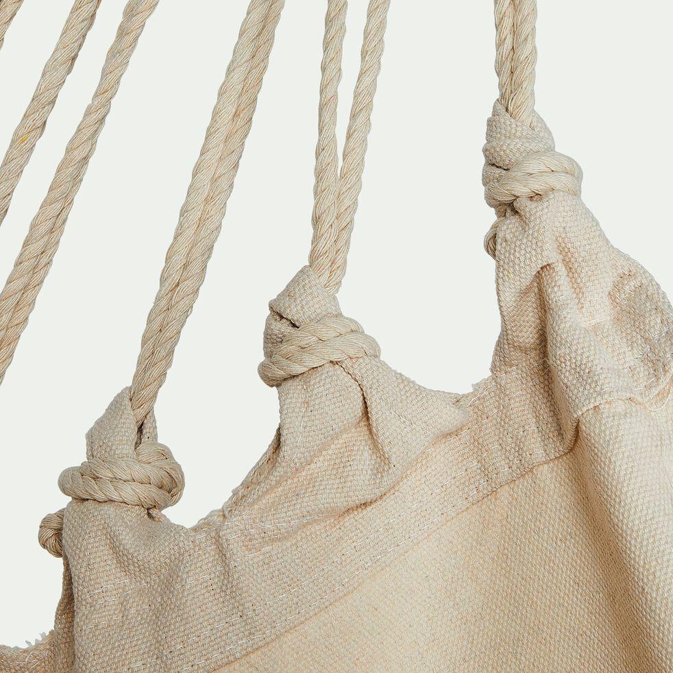 Fauteuil suspendu en coton - beige (1 personne)-Piana