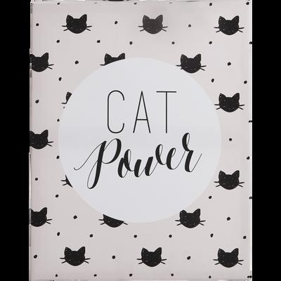 Toile imprimée décorative 40x50cm pour enfant-CAT