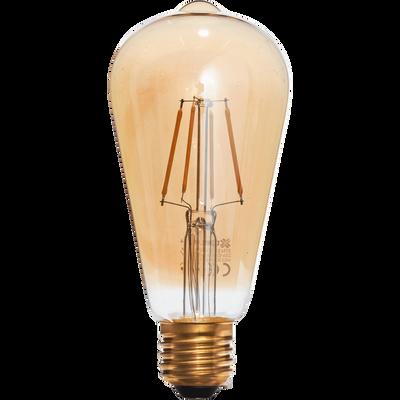 Ampoule LED décorative ambre H14cm culot E27-POIRE