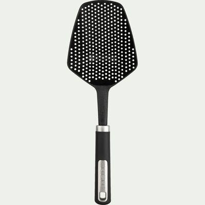 Cuillère passoire carrée en nylon noir-TOUMAS