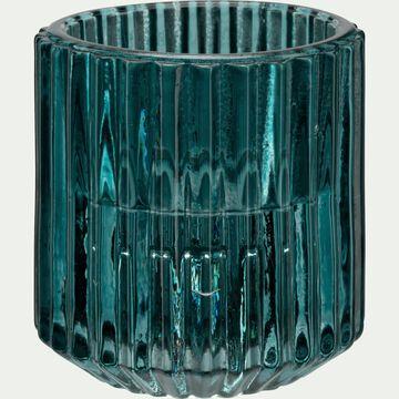 Photophore en verre H6 cm Bleu niolon-Lumio