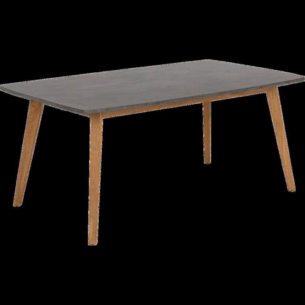 Table de jardin en teck et composite (8 places)-PRAYA