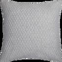 Coussin en jersey gris 45x45cm-ALIENOR