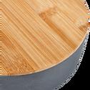 Saladier en fibre de bambou gris D25,5cm-TREZ