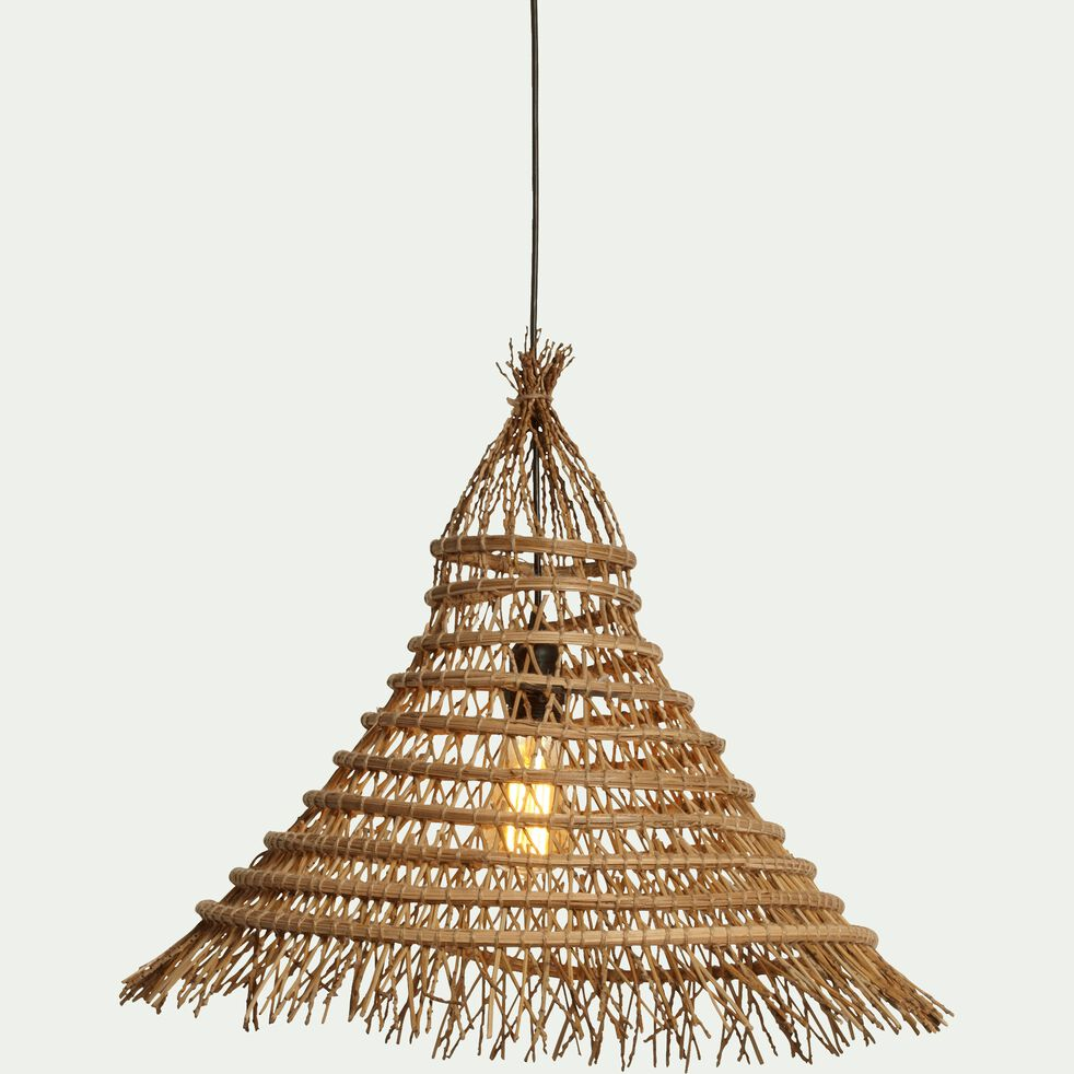 Suspension fait main en palmier naturel D50cm-DRINA
