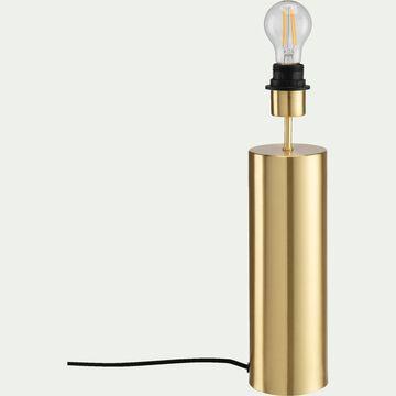 Lampe à poser en acier - D10xH41 cm doré-AGATHA