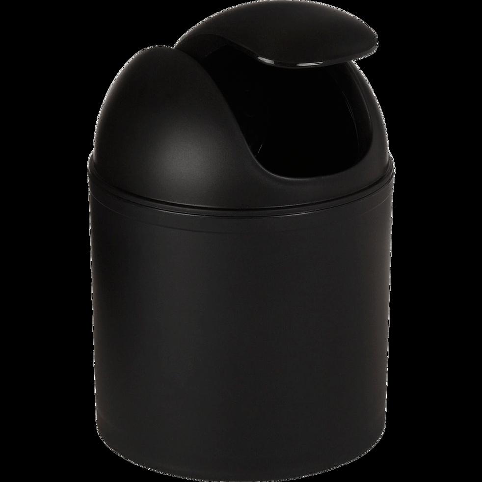 Poubelle noire 20cm D13.5cm-One
