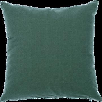 Coussin en coton vert cèdre 40x40cm-CALANQUES
