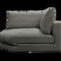 Élément de canapé angle modulable en tissu gris restanque-AUDES