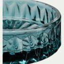 Coupelle en verre taillé - bleu niolon D9,4cm-Migno