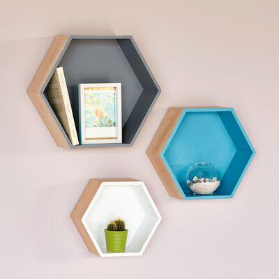 Étagère hexagonale grise-Rush