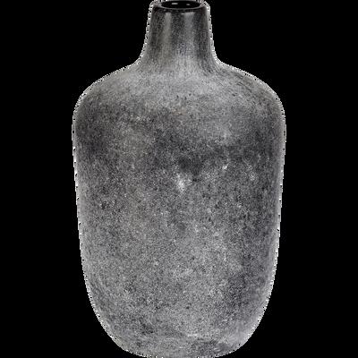 Vase bouteille en verre noir H29,5 cm-AMBRA