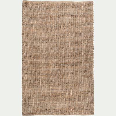 Tapis tressé en jute - gris et naturel 160x230cm-NIOLON