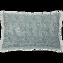 Coussin lin et coton à motif et frange 30x50 cm-GRANS
