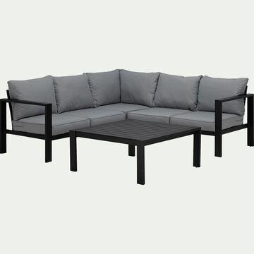Salon intérieur/extérieur en aluminium gris (5 places)-PORT ROYAL