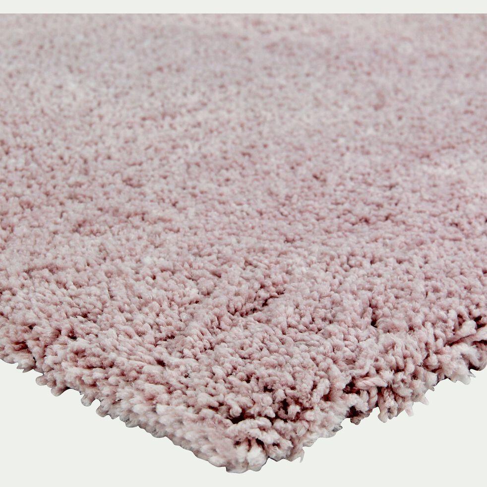 Tapis shaggy - rose poudré 120x170cm-CLOUD