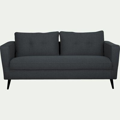 Canapé fixe en 3 places en tissu - bleu céou-BARTHOLE