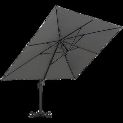 Parasol déporté rotatif 360° gris-Irati