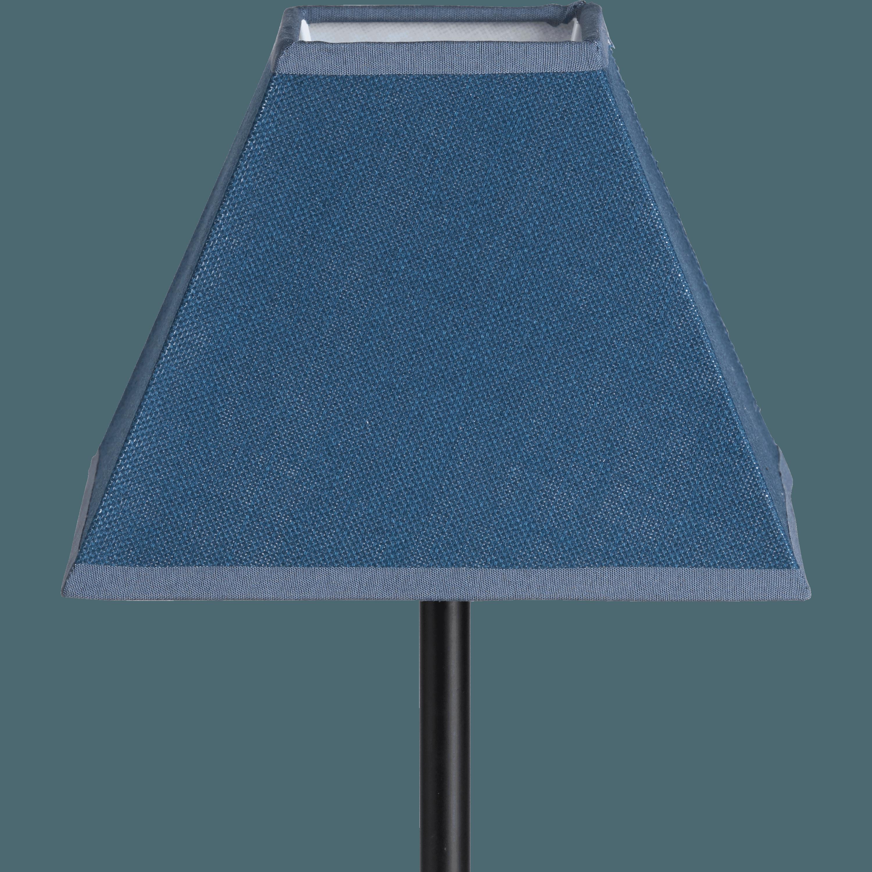 abat jour bleu Abat-jour carré bleu figuerolles-MISTRAL