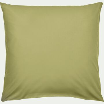Lot de 2 taies d'oreiller en coton - vert garrigue 65x65cm-CALANQUES