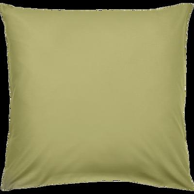 Lot de 2 taies d'oreiller en coton Vert guarrigue 65x65cm-CALANQUES