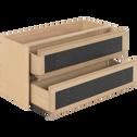 Bloc de 2 grands tiroirs en acier L82cm-Tassia