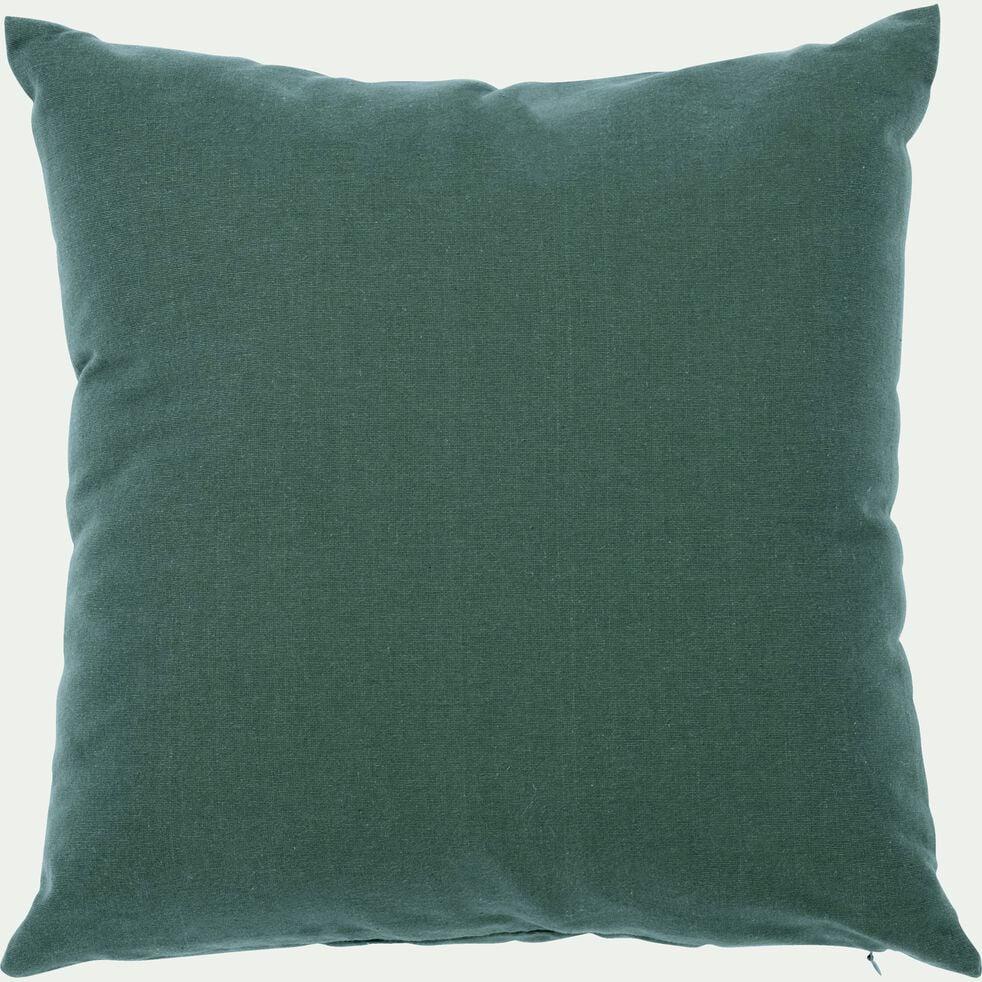Coussin de sol en coton - vert cèdre 70x70cm-CALANQUES