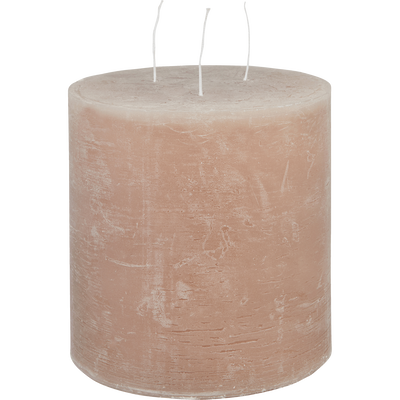 Bougie lanterne rose argile-BEJAIA