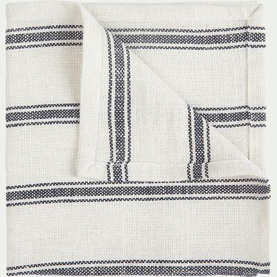 Serviette de table en lin et coton noir et blanc 41x41cm-PASSO