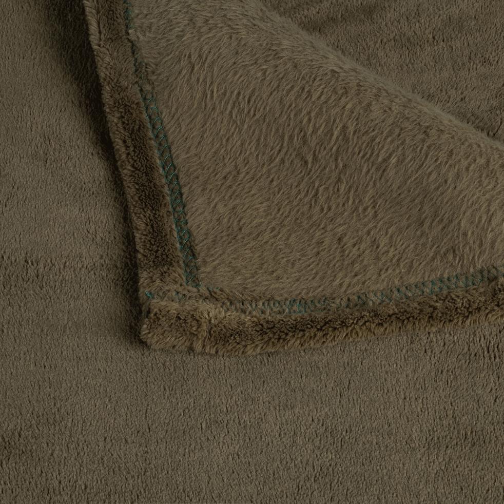 Plaid doux vert cèdre (plusieurs tailles)-ROBIN
