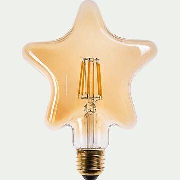 Ampoule LED déco à filament fantaisie lumière chaude - ambre D12cm-ETOILE
