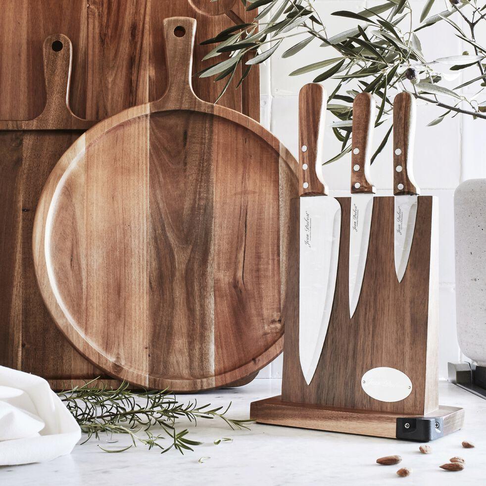 Bloc de 3 couteaux en acacia-ACACIA