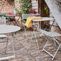 Table de jardin pliante rouge sumac (2 places)-CERVIONE