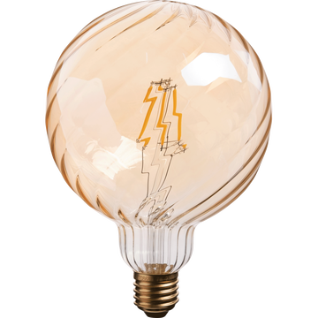 Ampoule décorative LED D12,5cm blanc chaud culot E27-STRIPPED