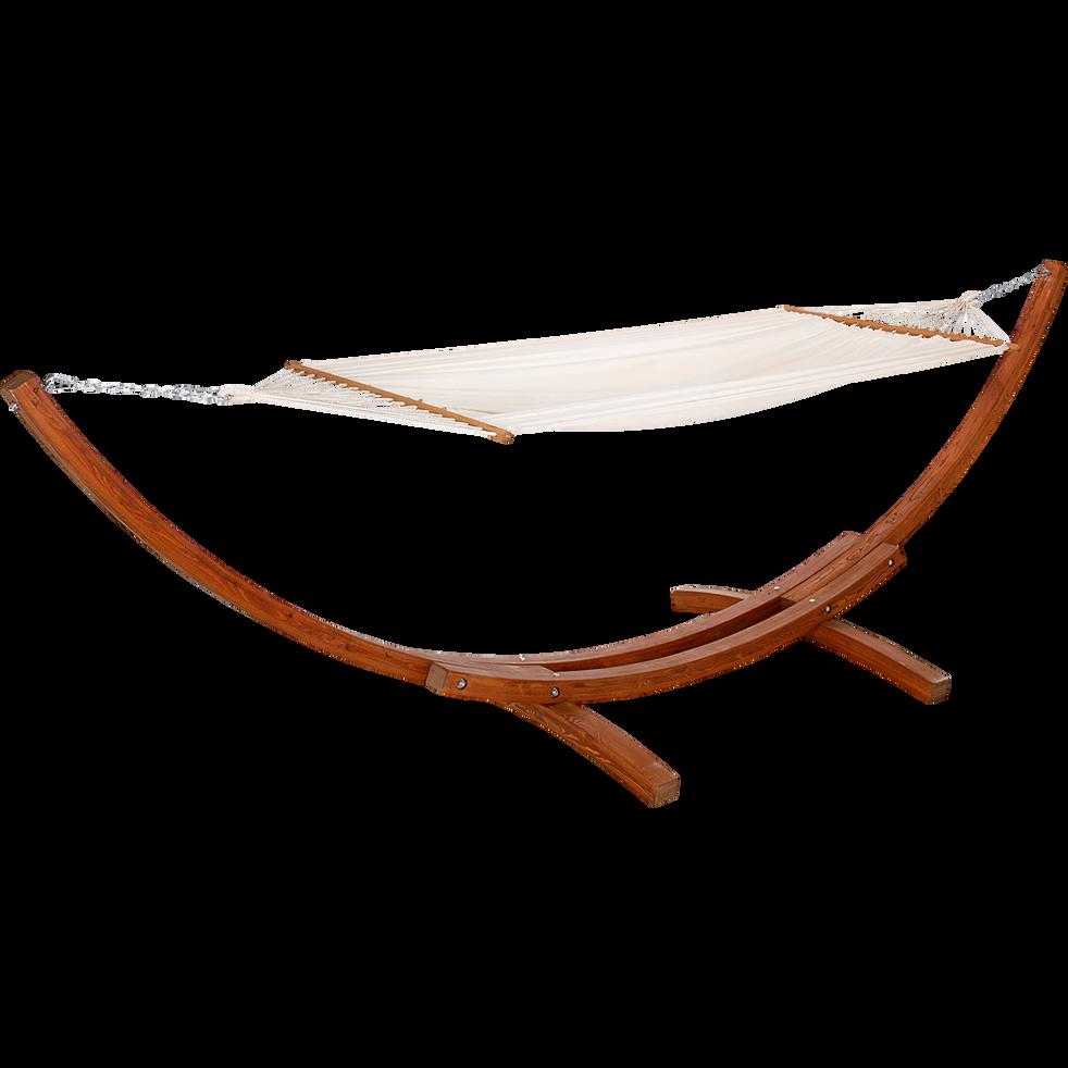 Hamac avec structure design en bois (2 personnes)-ANDALI