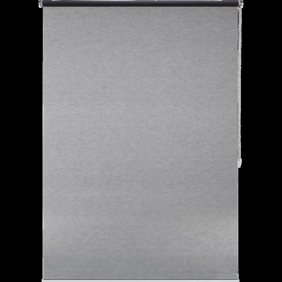Store enrouleur voile gris anthracite 140x250cm-VOILE