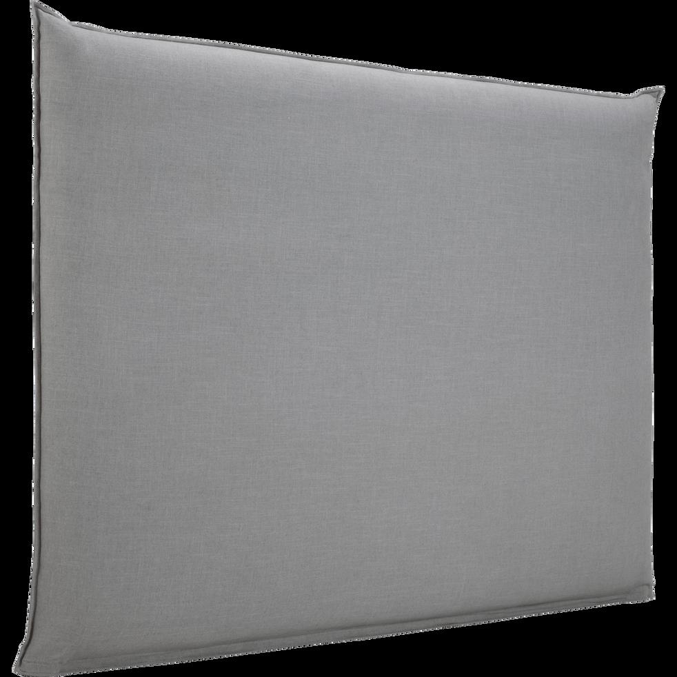 housse pour t te de lit plume gris restanque l180 cm. Black Bedroom Furniture Sets. Home Design Ideas