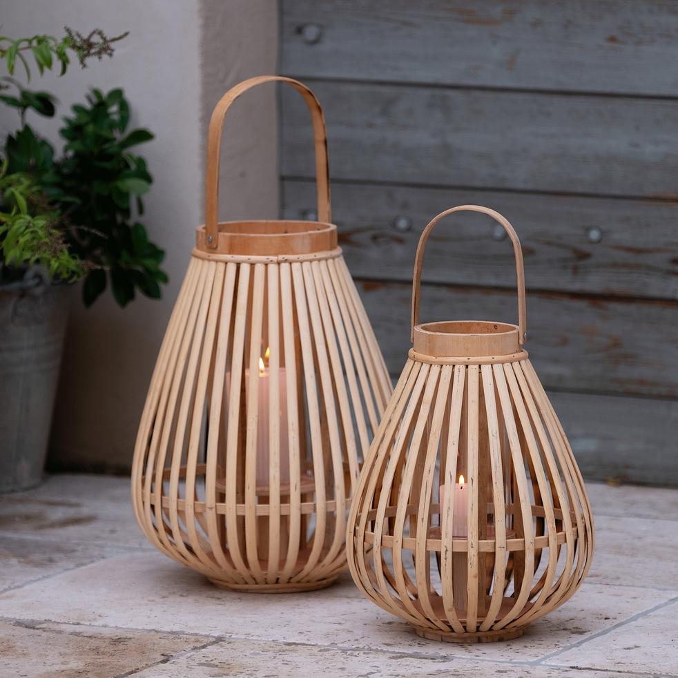 Lanterne en bambou H22cm-angel