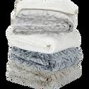 Plaid réversible imitation fourrure beige 130x170cm-SOFY