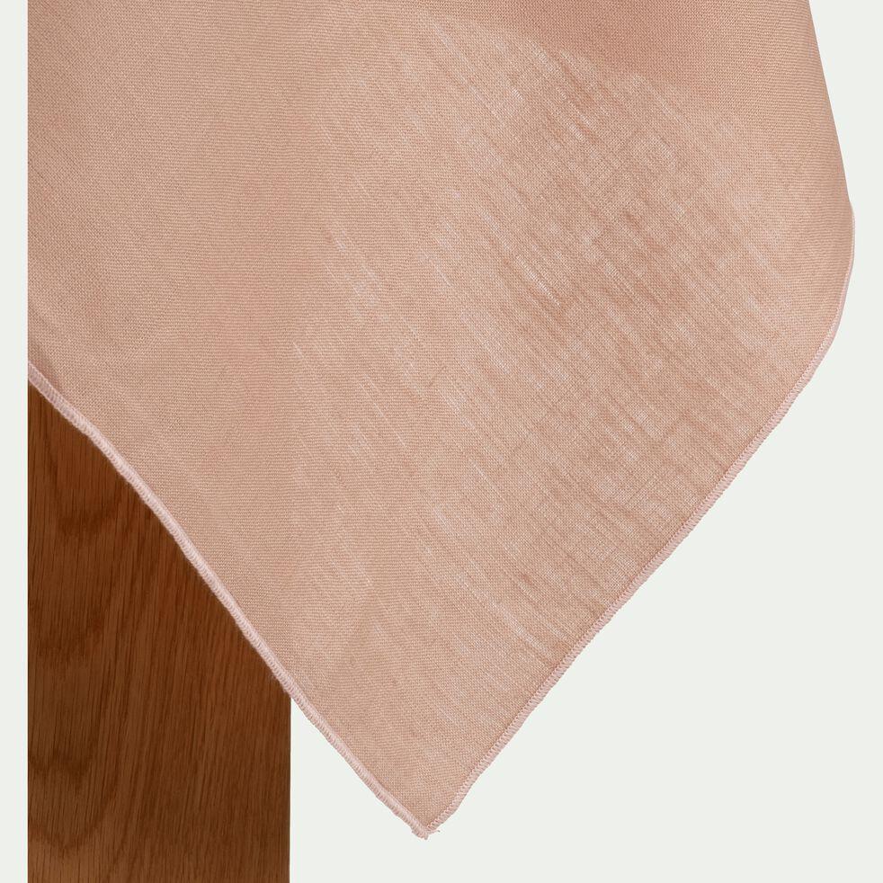 Nappe en lin et coton rose argile 170x250cm-MILA