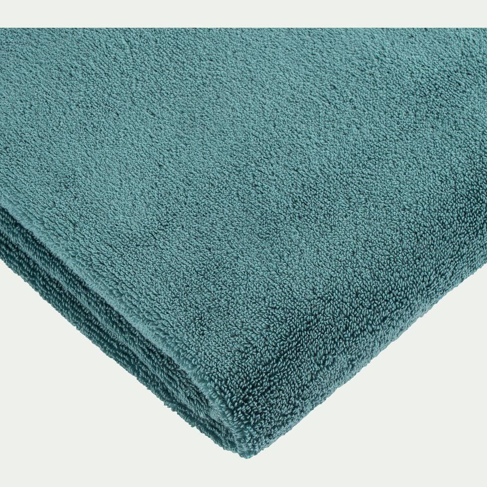 Drap de bain bouclette en coton - vert 100x150cm-Noun