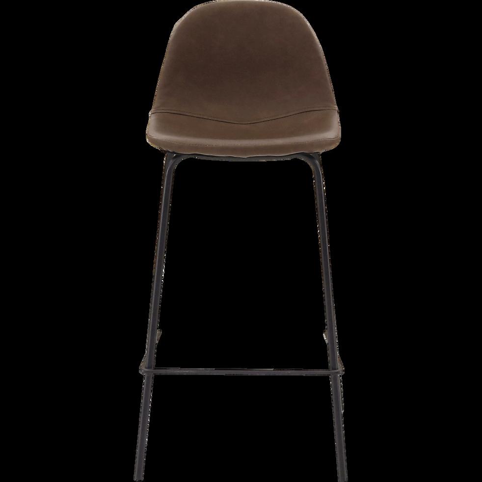 chaise de bar r tro marron h66cm charlotte chaises. Black Bedroom Furniture Sets. Home Design Ideas