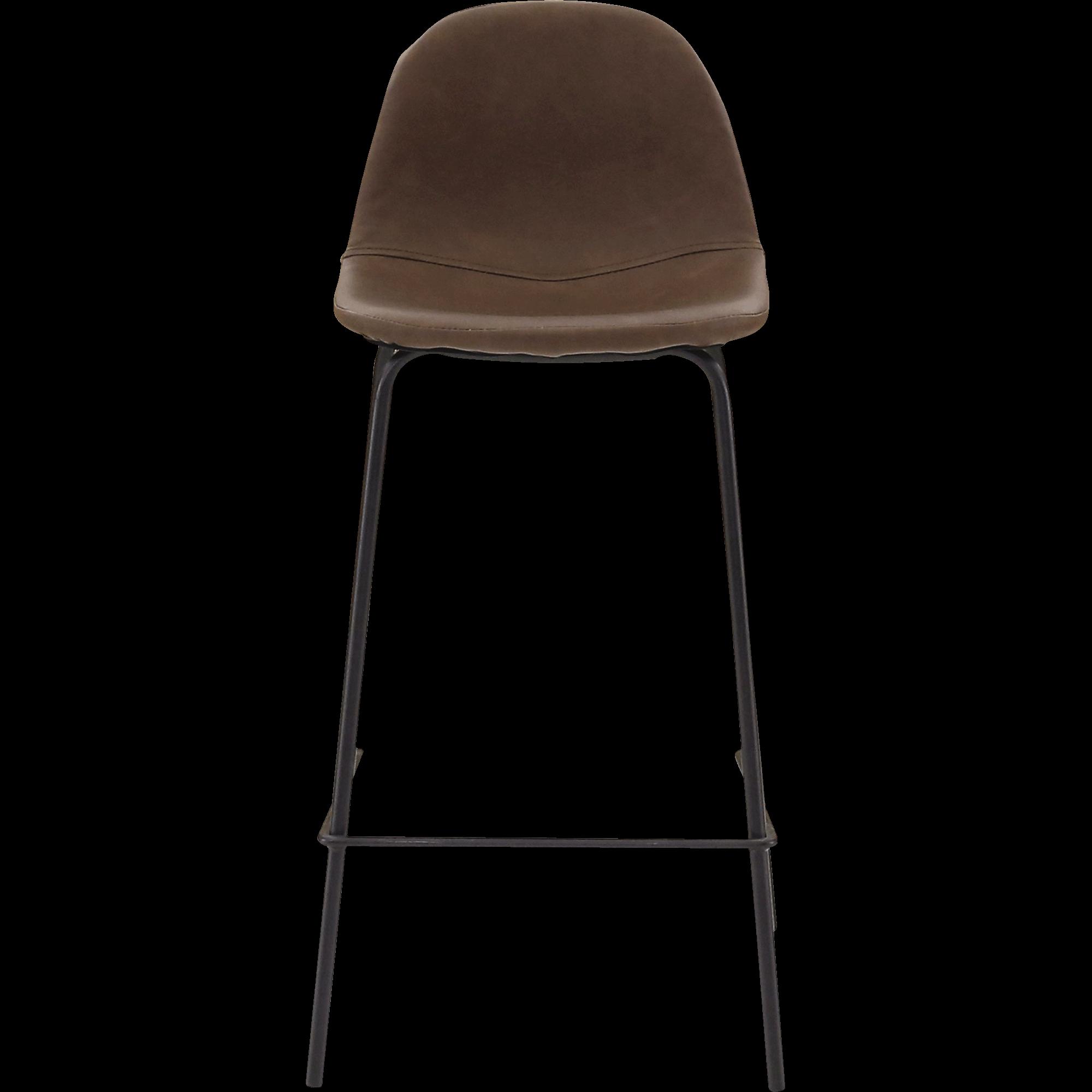 Chaise De Bar Rétro Marron   H66cm CHARLOTTE