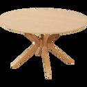 Table basse ronde plaquée chêne-LEANDRE